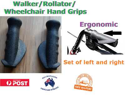 Pair of Walker Rollator Wheelchair Hand Grips Replacement Set Right and Left inc
