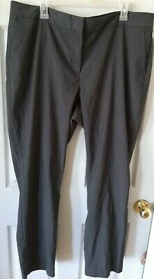 Pants Daisy Fuentes Pant Women Size 18w Charcoal Gray Dress Flat Front 5 Pocket Clothing, Shoes & Accessories