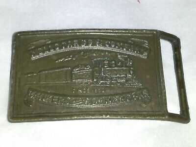 Vintage Wells Fargo & Company Bankers Forwarders Train Old West Belt Buckle