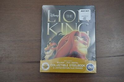 The Lion King (Blu-ray/DVD, Digital 2017, 2 Disc SteelBook Signature Collection)