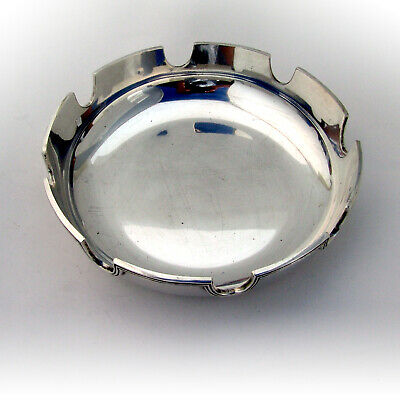 Large Cigar Ash Tray Sterling Silver Threaded Rim Tiffany and Co