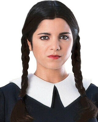 The Addams Family Wednesday Black Wig One Size