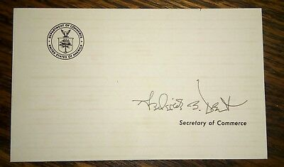 FREDERICK B. DENT Autograph - Signed Official Secretary of Commerce Card