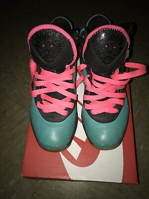 new arrival f2b0b 812db Mens 2010 Nike Lebron 8 South Beach Pre Heat Basketball Shoes Sz 7 Authentic