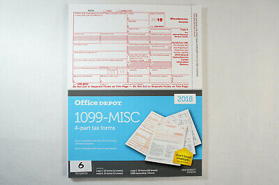 OFFICE DEPOT 2017 1099-misc 4-part forms w/software suite