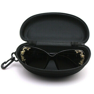 Classic glasses Case for Sunglasses with Zipper Portable hook Glasses Black Box