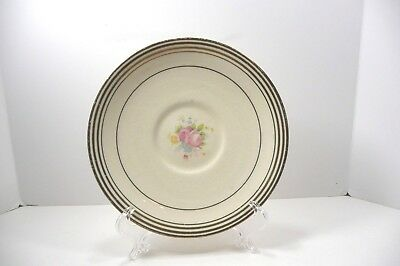 Taylor Smith Saucer Cream Pink Roses Vintage 1930's 1940's Gold Trim
