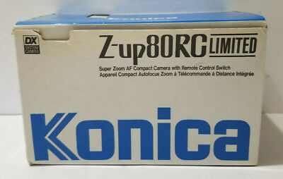Konica Z-up 80RC (RMT) Super Zoom Point Shoot 40-80 Zoom Film Camera '80s Japan