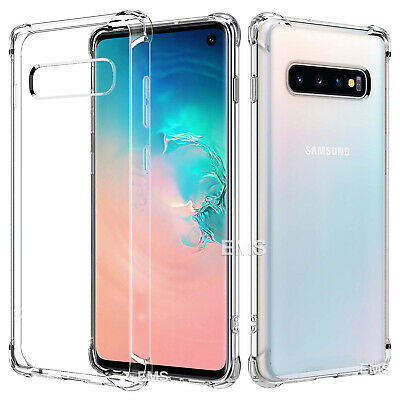 Samsung Galaxy S10e S10 S8 S9 Plus Note 9 10+ Clear Case Shockproof Bumper Cover