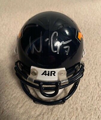 Will Grier Signed Autographed West Virginia Mountaineers Mini Helmet Wvu Auto