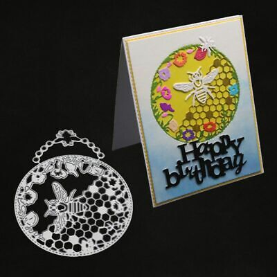 Bee Metal Cutting Dies Stencil DIY Scrapbooking Album Embossing Paper Card Craft