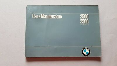 BMW 2500 - 2500 Automatic 1970 manuale uso originale owner's manual