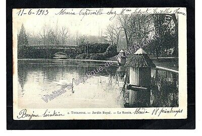 CPA 31 TOULOUSE - Jardin Royal - Le Bassin (1903)