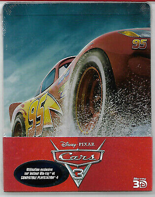 CARS 3 - Disney / Blu-Ray 2D+3D Steelbook Neuf sous blister - VF