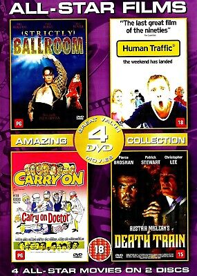 4 All Star Films (DISCS ONLY) DVD Strictly Ballroom / Carry On Doctor / Human