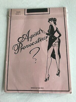 76c0e01c104 AGENT PROVOCATEUR STOCKINGS M fully fashioned seam heel NEW nylon ...
