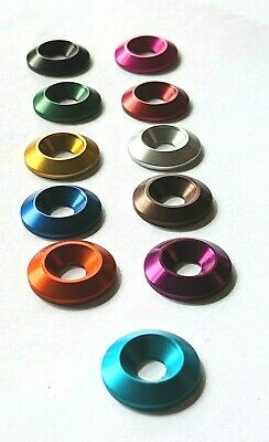 M5 x 18mm Countersunk Washers Anodised Aluminium  -10 Colours