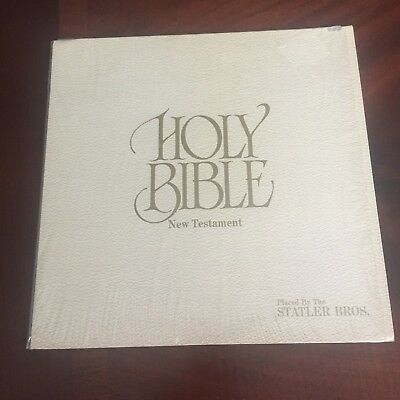 A - The Holy Bible New Testament The Statler Brothers 1975 Mercury LP Gospel *NM