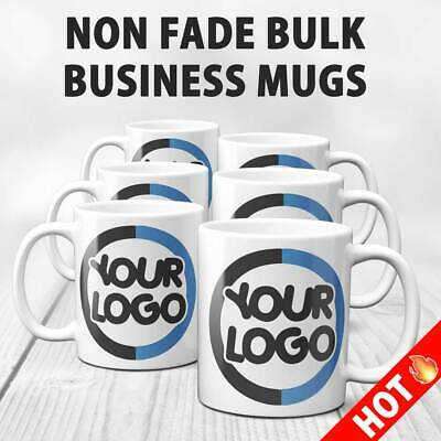 Business Branded Printed Mug-Any,Logo,name or text-Bulk Buy from £1.50ea ex vat