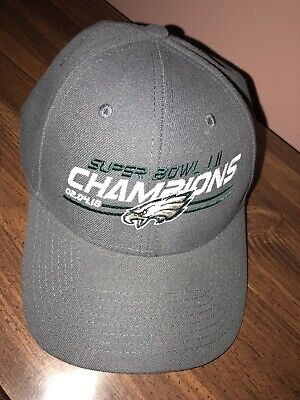 fb5e9a5bd3cea Philadelphia Eagles New Era Super Bowl LII Champions 9FORTY Adjustable Hat  Cap