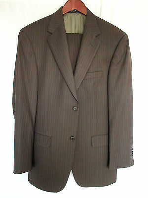 Gianfranco Ruffini Brown Suit 38R 30x30 Super 100's Wool & Cashmere Blend