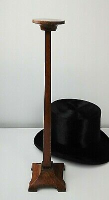 Antique Arts & Crafts Wooden Hat Display Stand, Period Shop Fitting C.1910