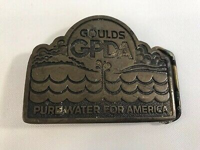 Goulds GDPA Pure Water for America Solid Brass Belt Buckle
