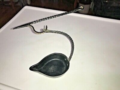 Vintage Betty Lamp Cast Iron With Hook/ 1920's