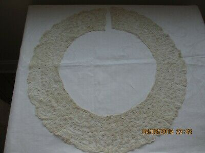 """Antique Honitan Lace Collar 4"""" Wide 38"""" Around Lovely Delicate Design Vguc"""