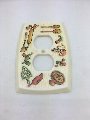 Vintage 1972 Plastic light Switch Cover Country  American Tack & Hardware