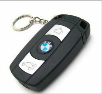BMW Car Key Lighter Windproof refillable Butane cigar Jet Torch no gas with Led