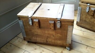 vintage wooden army box