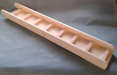 KILN PINE WOOD 70cm x 14cm RAMP/LADDER + SIDES FOR C&C CORREX CAGE GUINEA PIG