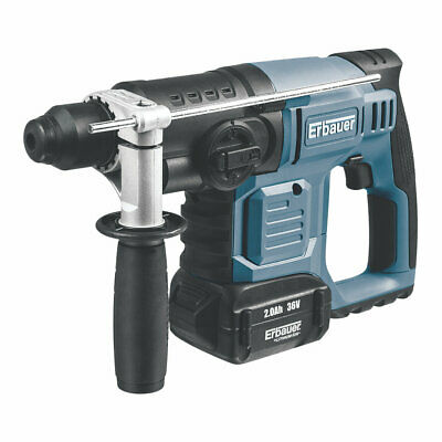 Cordless 36V SDS Plus Hammer Impact Drill Chisel with 2 x 2.0Ah Li-Ion Batteries