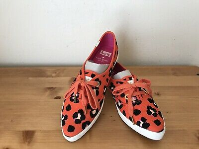 b2bc2a31a4cee KEDS FOR KATE SPADE NEW YORK leopard print Pointed toe sneakers shoes 7M