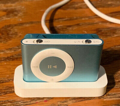 Apple A1204 iPod Shuffle 2nd Generation 1GB Light Blue & Charger I Removed Songs