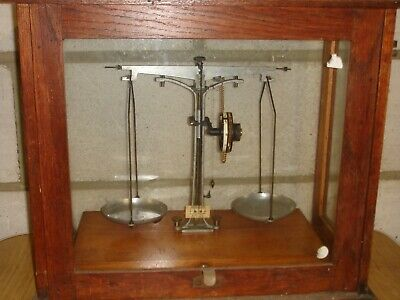 GARAGE FIND - ANTIQUE/VINTAGE LABORATORY SCALES by A GALLEN KAMP.