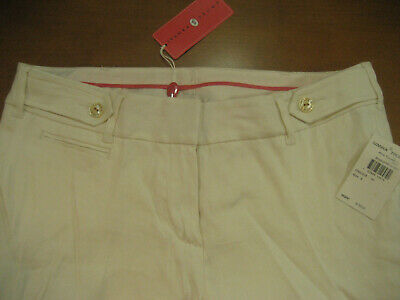 NEW $155 Ivanka Trump Ivory Linen Pants Fully Lined Size 6