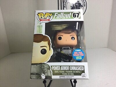 Funko POP Games Fallout Power Armor Unmasked #67 NY Comic Con Limited Edition
