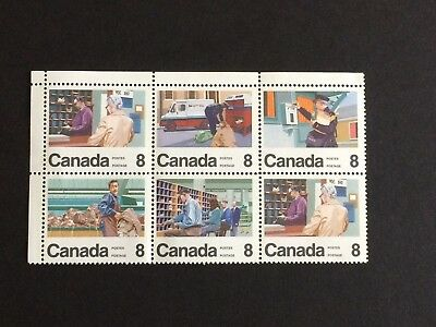 CANADA #634-639 6x8¢  100th Anniversary Letter Carriers 1974 (block of 6 - MNH)