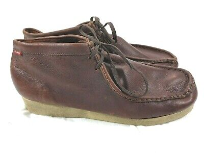Clarks Mens Padmore Wallabee Outdoor Casual Boot 86256 Dark brown Leather