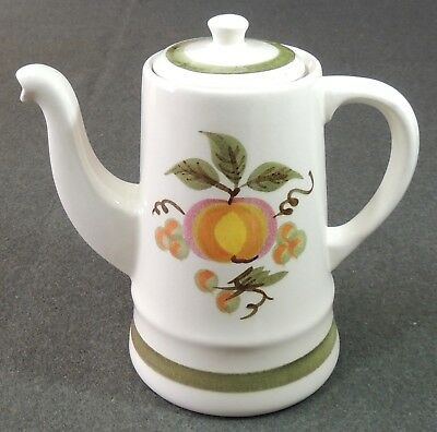 Stangl Pottery Apple Delight Hand Painted Coffee Pot EUC