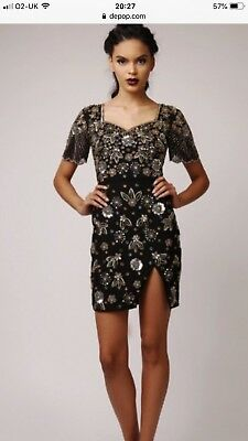 c55525c9225f Virgos Lounge Black Sequin Sparkly Aria Dress Size 8 Sold Out Blogger