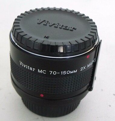 Vivitar MC 70-150mm 2x Matched Multiplier Lens For M/MD With Caps