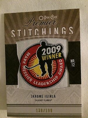 2009-10 O-Pee-Chee Premier Stitchings #PS-JI Jarome Iginla Calgary Flames Card