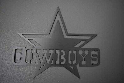Dallas Cowboys Metal Art Football Art - Brushed steel