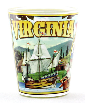 Virginia State Mural Shot Glass Shotglass
