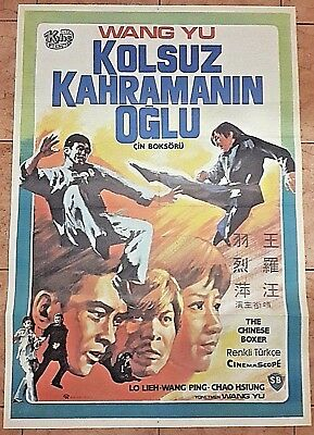 The Chinese Boxer The Hammer Of God Original Movie Poster Turkish
