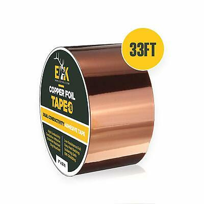 "Copper Foil Tape with Conductive Adhesive for Guitar & EMI Shielding (2"" x 33')"