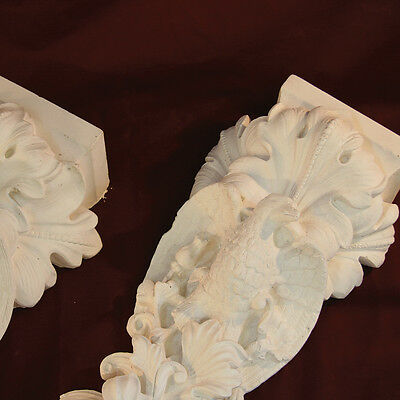 East & West Facing Eagle & Falcon Corbels - Made with Fine Plaster. Period. PAIR